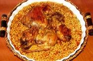 Κοτόπουλο κοκκινιστό με κους κους