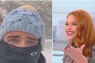 Σίσσυ Χρηστίδου: Ο αδερφός της βγήκε στην εκπομπή μέσα από τη χιονισμένη Θεσσαλονίκη
