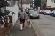 Σκύλος προσποιείται πως κουτσαίνει συμπάσχοντας με τον ιδιοκτήτη του (video)