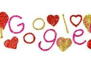 Η Google γιορτάζει την ημέρα του Αγίου Βαλεντίνου με ένα «ερωτευμένο» Doodle