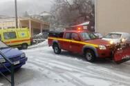 Συνεργεία του Δήμου Πατρέων καθάρισαν από το χιόνι τους δρόμους στο Άνω Καστρίτσι