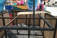 Πάτρα: Βανδάλισαν το καρναβαλικό διάκοσμο στην πλατεία Γεωργίου (φωτο)
