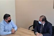 Συνάντηση Αλεξόπουλου - Καλογερόπουλου στα γραφεία του ΣΥ.ΔΙ.Σ.Α.