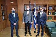 Συνάντηση Ν. Φαρμάκη και Λ. Δημητρογιάννη με τον Υπουργό Περιβάλλοντος και Ενέργειας, Κ. Σκρέκα