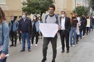 Πάτρα: O Κώστας Πελετίδης στη συγκέντρωση των φοιτητών (φωτο)