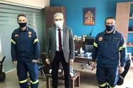 Επίσκεψη του Άγγελου Τσιγκρή στη Διεύθυνση Πυροσβεστικών Υπηρεσιών Αχαΐας (φωτο)