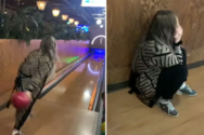 Μπάλα του bowling γυρίζει μπούμερανγκ με ξεκαρδιστικό τρόπο (video)