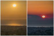 Πάτρα - Η στιγμή που ο ήλιος