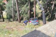 Ναύπακτος: Αυτοκίνητο ξέφυγε της πορείας του στον δρόμο του κάστρου