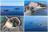 Νησάκι Σικελιανού ή Άγιος Νικόλαος - Μια μαγευτική πτήση πάνω από το νησί που θυμίζει εξωτικούς προορισμούς (video)