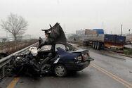 Αύξηση 140,7% σημείωσαν τα οδικά τροχαία ατυχήματα φέτος τον Απρίλιο