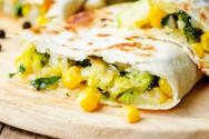 Quesadillas με κοτόπουλο και μπρόκολο
