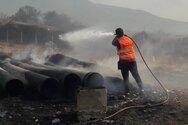 Οι ομάδες πυροπροστασίας του Εργατικού Κέντρου Πάτρας στη μάχη με τις φλόγες