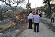Κλιμάκιο του ΚΚΕ Αχαΐας στις πληγείσες από τη φωτιά περιοχές (φωτο)
