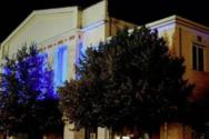 Γρεβενά: Φωταγωγημένο για τρεις ημέρες το δημαρχείο της πόλης για τον «χρυσό» Τεντόγλου