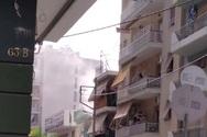 Πάτρα: Καπνοί από διαμέρισμα στην οδό Σολωμού