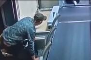 Μεθυσμένος επιβάτης μπήκε στον κυλιόμενο ιμάντα των αποσκευών, η κατάληξη δεν ήταν καλή (video)