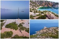 Η μοναχική νησίδα Κυρά του Σαρωνικού που βρίσκεται στη