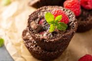 Συνταγή για μπουκίτσες brownies με ρευστή σοκολάτα