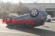 Κορίνθου - Πατρών: Τροχαίο με ανατροπή οχήματος στον παράλληλο της Εθνικής Οδού (φωτο+video)