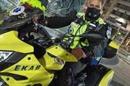 Πάτρα: Κατάθεση στην αστυνομία από τον δικυκλιστή του ΕΚΑΒ για τον τραυματισμό του παιδιού