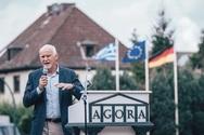 Ο Γιώργος Παππανδρέου σε εκδήλωση του Σοσιαλδημοκρατικού κόμματος της Γερμανίας (SPD)