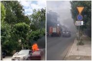 Πάτρα: Αυτοκίνητο στην Ακτή Δυμαίων έπιασε φωτιά (video)