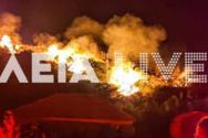 Ηλεία: Ξέσπασε φωτιά στη περιοχή Άγναντα