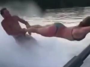 Θαλάσσιο σκι σε... άλλο επίπεδο (video)