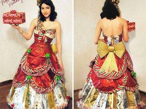 Φορέματα φτιαγμένα από χαρτί περιτυλίγματος (pics)