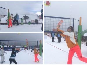Καμπούρη, Αντωνοπούλου & Τσιορλίδα, παίζουν snow volley στα Καλάβρυτα (φωτο+video)