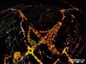 Νυχτερινή 'περιήγηση' από ψηλά, στον μεγαλύτερο Υπερ-Κόμβο των ΝΔ Βαλκανίων! (φωτο)