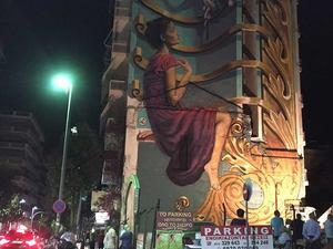 Πάτρα: Το ευχαριστώ της 'ψυχής' του Artwalk 3 μετά την ολοκλήρωση του έργου του WD