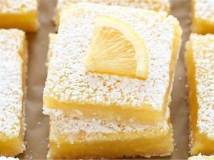 Μπάρες λεμονιού με μπισκότα