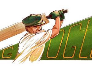 Sir Donald George Bradman - Αφιερωμένο στον σπουδαίο παίκτη του κρίκετ το Google Doodle