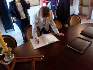 Η Πρέσβης της Ουκρανίας Nataliia Kosenko στην Achaia Clauss της Πάτρας