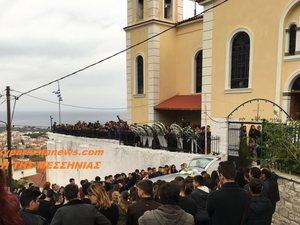 Θρήνος στην κηδεία του 15χρονου μαθητή στην Κυπαρισσία