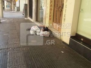 Πάτρα: Συγκίνηση για τον άστεγο κυρ Χρήστο που έφυγε από την ζωή