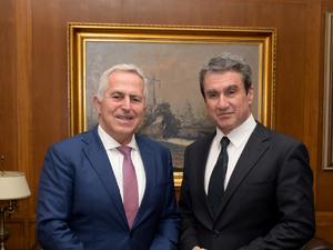 Συνάντηση Ευάγγελου Αποστολάκη με τον βουλευτή Ανδρέα Λοβέρδο