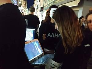 Οι Anonymous for the Voiceless έκαναν 'κατάληψη' στην Ρήγα Φεραίου!