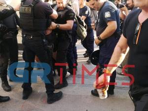 Ένταση και προσαγωγές πριν την ομιλία Τσίπρα στην Θεσσαλονίκη (video)