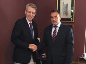 Ο Νίκος Παναγιωτόπουλος συναντήθηκε με τον Τζέφρι Πάιατ