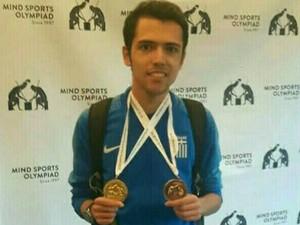 Δύο μετάλλια για τον Δημήτρη Κοσμόπουλο στην 'Ολυμπιάδα Αθλημάτων Νόησης'