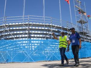 Πάτρα - Ικανοποιημένος ο πρόεδρος της ΔΕΜΑ, από τις εγκαταστάσεις των Μεσογειακών Αγώνων (φωτο)