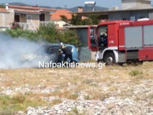 Δυτική Ελλάδα: 'Φούντωσε' αυτοκίνητο στο Αντίρριο (video)