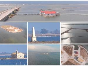 Μια ιδιαίτερη πτήση πάνω από τη νησίδα Κλείσοβα στη Λιμνοθάλασσα Μεσολογγίου (video)