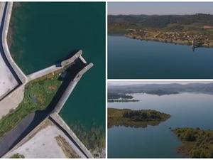 Ηλεία - Η τεχνητή λίμνη Πηνειού άνωθεν (video)
