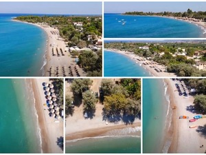 Αχαΐα - Παραλία Ελαιώνα: Με φόντο τα καταγάλανα νερά του Κορινθιακού (video)