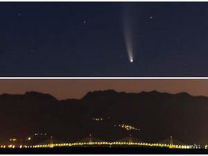 Ο κομήτης C/2020 F3 'έλαμψε' πάνω από τη Γέφυρα Ρίου - Αντίρριου