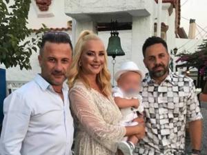 Γιώργος Γιαννιάς και Ελευθερία Παντελιδάκη βάφτισαν τον γιο τους